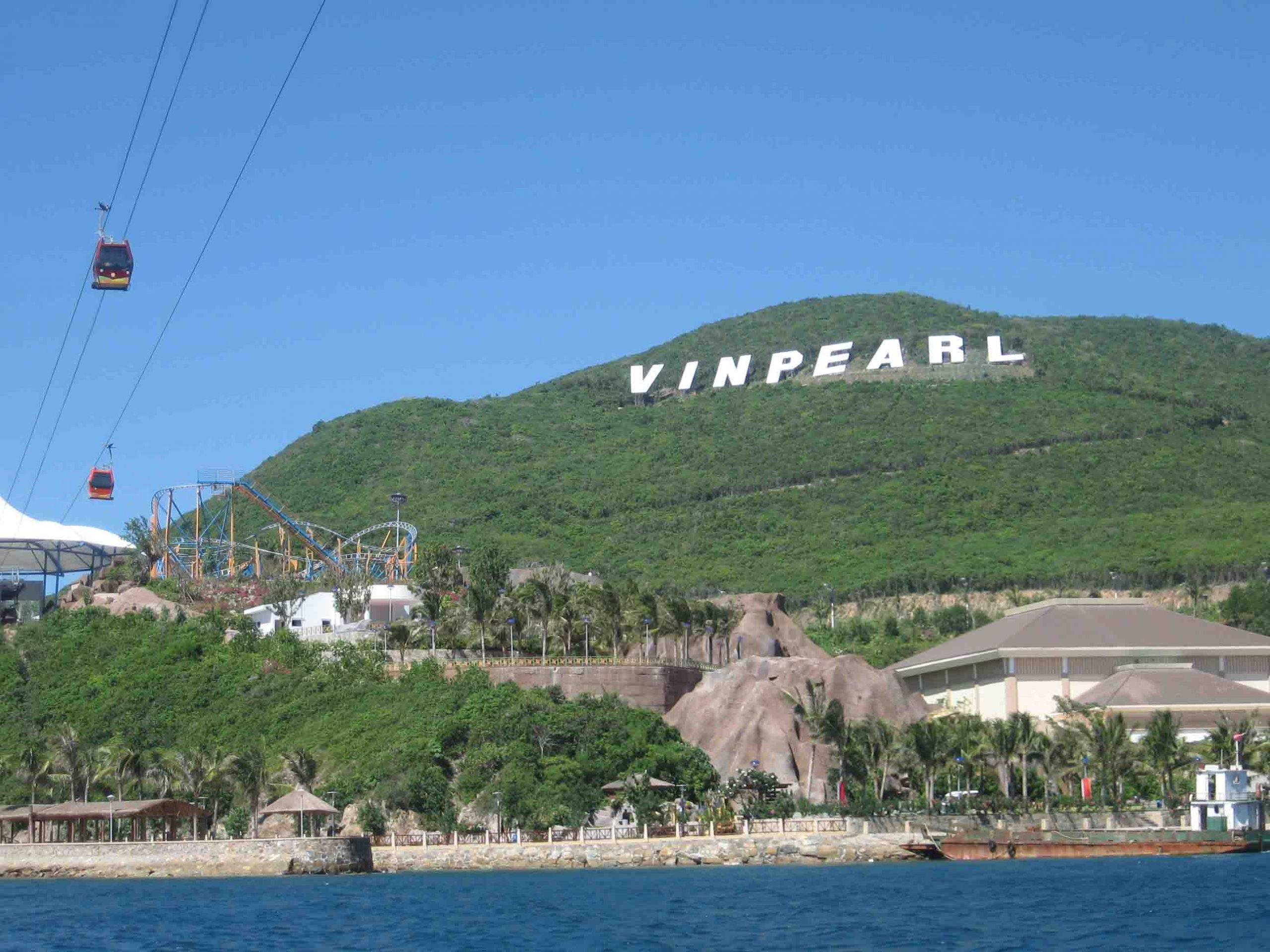 Bảng hiệu đặc trưng của khu giải trí hiện đại Vinpearl