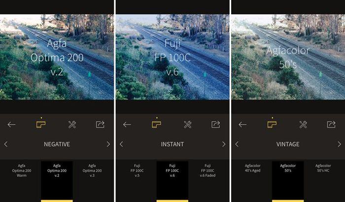 RNI Film - ứng dụng tạo ra những bức ảnh như được chụp từ máy film