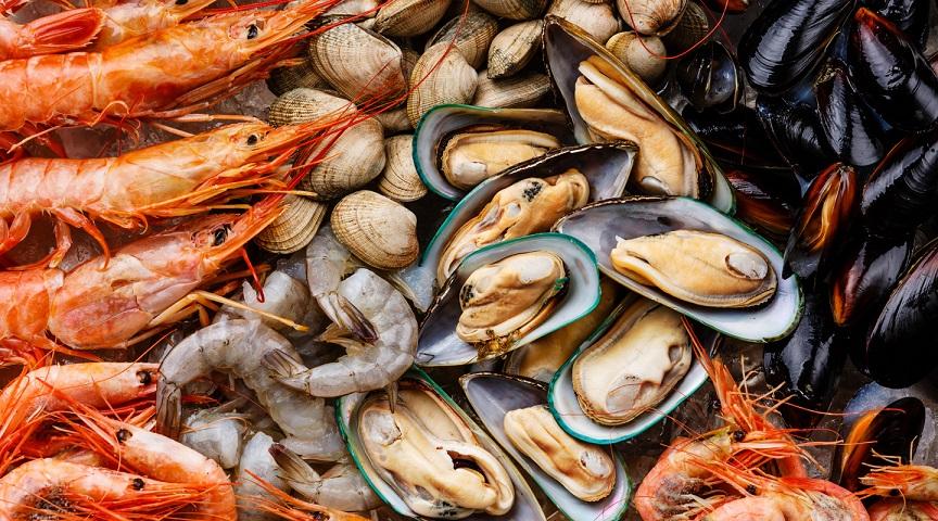 Ngộ độc do hải sản có vỏ. Hình: Sưu tầm
