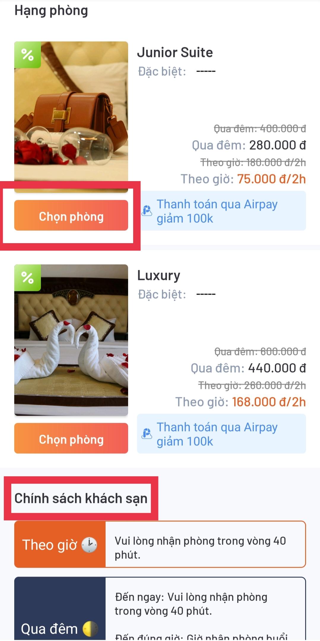 Bộ lọc thông minh cho phép bạn chọn được phòng khách sạn đúng nhu cầu với thao tác đơn giản