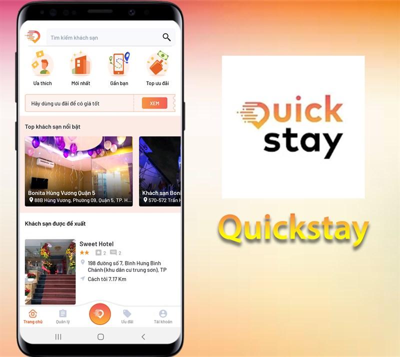 Nếu bạn đang tìm kiếm một ứng dụng đặt phòng khách sạn theo giờ nhanh chóng và tiện lợi, không phải mất nhiều thời gian tìm kiếm, đến tận nơi đặt phòng trực tiếp tại khách sạn, nhưng lại cảm thấy không an tâm khi chưa biết nơi mình sắp đến có đảm bảo chất lượng hay còn phòng không, thì ứng dụng Quickstay đặt phòng theo giờ chính là giải pháp bạn đang tìm kiếm. Vậy ứng dụng này có gì hay, sử dụng như thế nào? Đừng bỏ qua hướng dẫn đặt phòng quickstay chi tiết tại bài viết này nhé! Ứng dụng Quickstay là gì? Quickstay là gì? Đúng với tên gọi, Quickstay là một ứng dụng chuyên đặt phòng nhà nghỉ, khách sạn nhanh chóng theo giờ với nhiều tiện lợi, giá rẻ và mạng lưới khách sạn rộng lớn, với công cụ hỗ trợ định vị địa điểm chính xác sẽ giúp bạn dễ dàng đặt được phòng khách sạn phù hợp với nhu cầu, để có những giây phút nghỉ ngơi, thư giãn nhất. Thông tin ứng dụng: o Nền tảng: Android 5.0 trở lên, iOS 10.0 trở lên o Dung lượng: Android ~16MB, iOS ~231.9MB o Loại ứng dụng: Du lịch và địa phương o Nhà phát hành: Quickstay Những điểm nổi bật của ứng dụng Quickstay App Quickstay có gì nổi bật? Nói về điểm nổi bật của app Quickstay phải kể đến sự nhanh chóng, tiện lợi, tiết kiệm thời gian và đảm bảo chất lượng, an toàn đem đến một không gian nghỉ ngơi phù hợp, đa dạng với nhiều sự lựa chọn. Đặc biệt là phù hợp với những khách hàng có nhu cầu đặt phòng khách sạn tình nhân hay đặt phòng khách sạn theo giờ, muốn tìm kiếm một địa chỉ đáng tin cậy, có thể biết trước hình ảnh phòng nghỉ, tiện nghi, thông tin khách sạn để có sự lựa chọn ưng ý nhất. Tìm phòng khách sạn nhanh Tìm phòng khách sạn thông qua thanh công cụ tìm kiếm hoặc tìm theo bản đồ một cách nhanh chóng là ưu điểm đầu tiên của ứng dụng này. Khi đăng nhập vào ứng dụng Quickstay để tìm phòng khách sạn, bạn có thể chọn thanh công cụ tìm kiếm để gõ tên khách sạn cần tìm nếu đã có quyết định từ trước. Lúc này hệ thống sẽ hiển thị kết quả danh sách những khách sạn có cùng tên. Từ đây bạn có thể dễ dàng tìm kiếm khách sạn, xem t