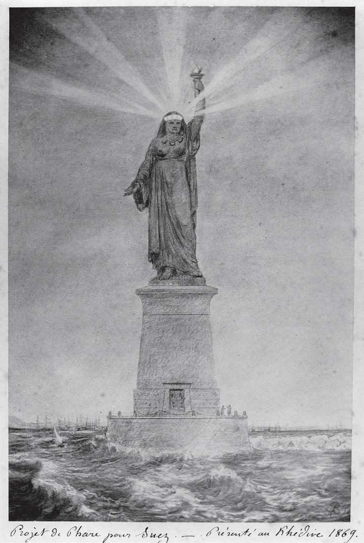 Bản phác thảo đầu tiên của tượng Nữ thần Tự do của nhà điêu khắc Frédéric-Auguste Bartholdi. Ảnh: Wixstatic
