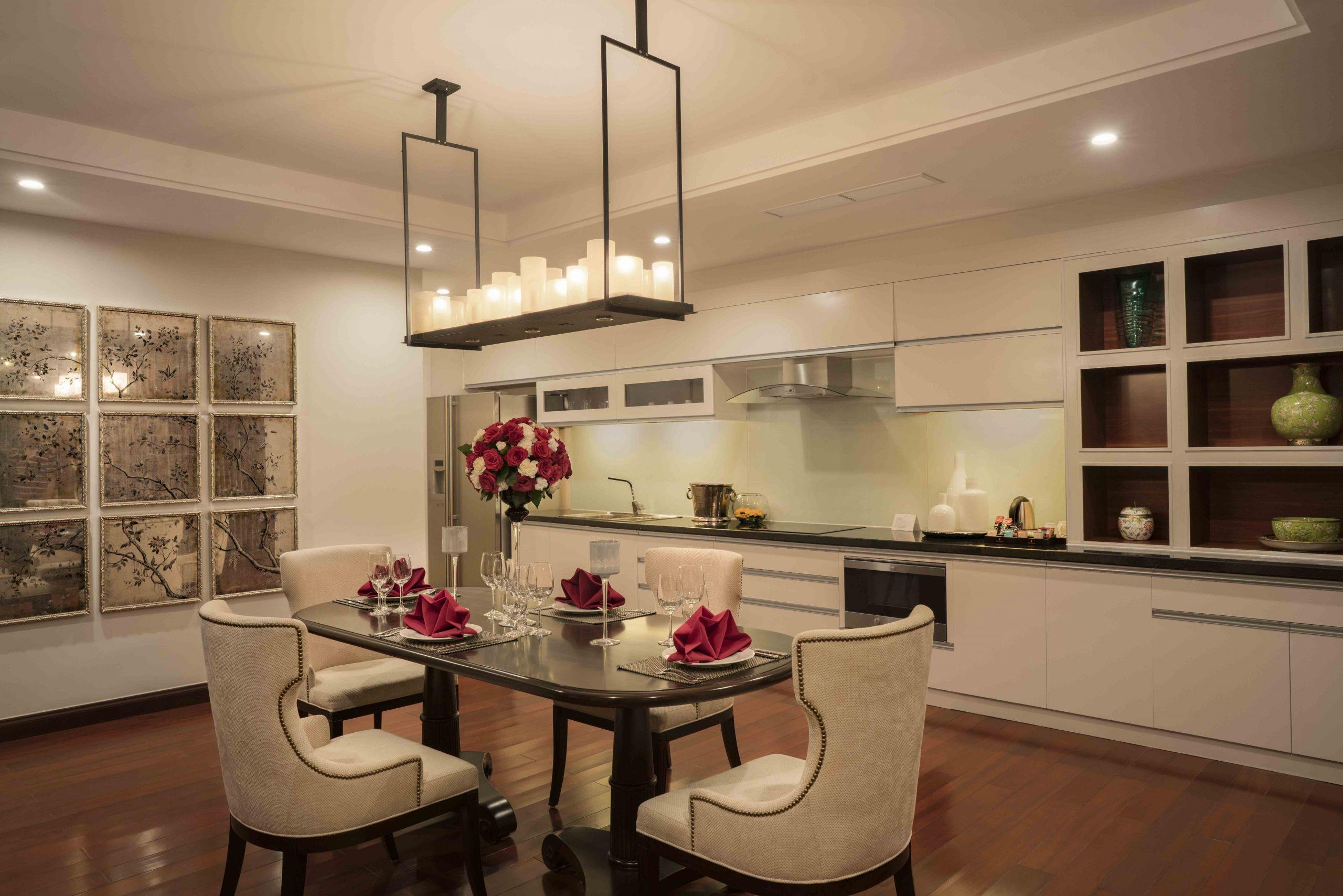 Phòng bếp trong biệt thự. Hình: Sưu tầm