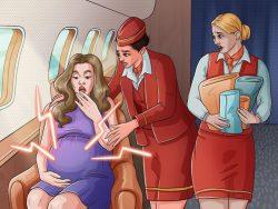 Điều gì xảy ra khi hành khách sinh con trên máy bay?