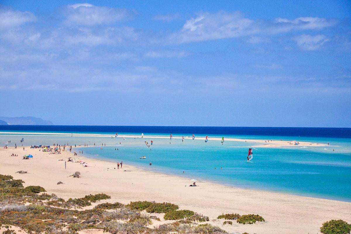 Bãi biển Sotavento, Quần đảo Canary, Tây Ban Nha