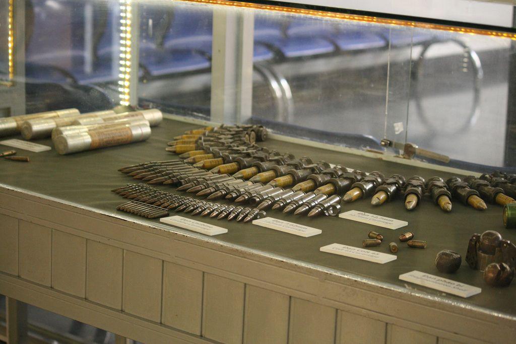 Nơi trưng bày những hiện vật của chiến tranh. Hình: Sưu tầm