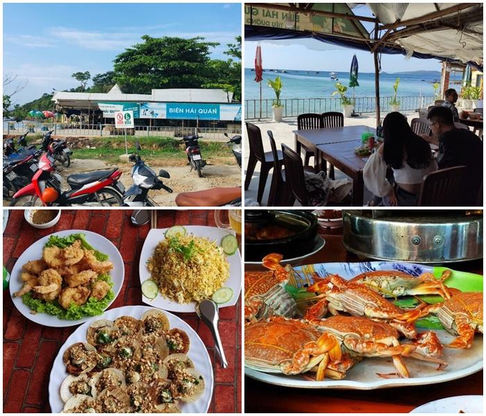 Biển Hải Quán là một trong top 10 quán hải sản ở Phú Quốc được rất nhiều du khách yêu thích - Nguồn ảnh: Internet