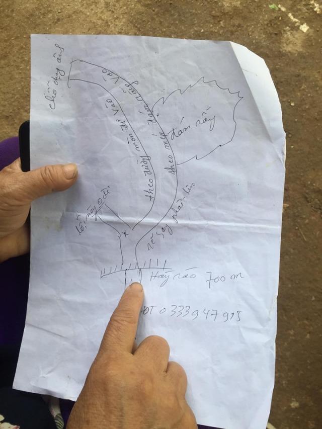 Hình ảnh khách du lịch vẽ lại đường đi đèo Mẻ Pia. Ảnh: Internet