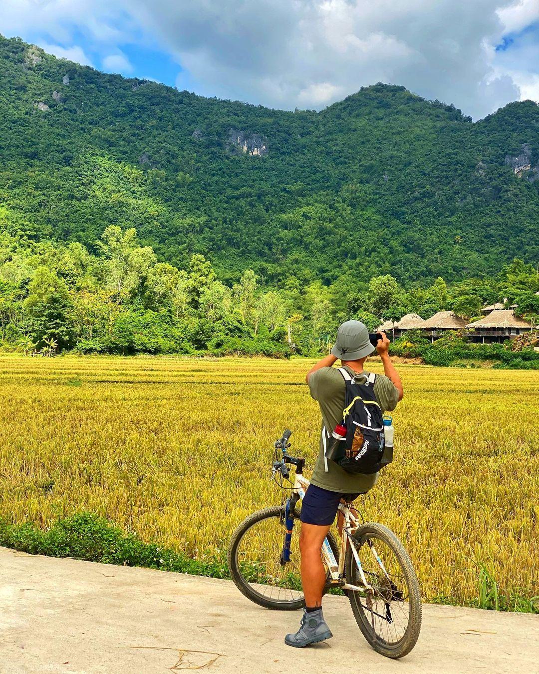 Những cánh đồng lúa bát ngát ở Mai Châu. Hình: @thiennguyen1012