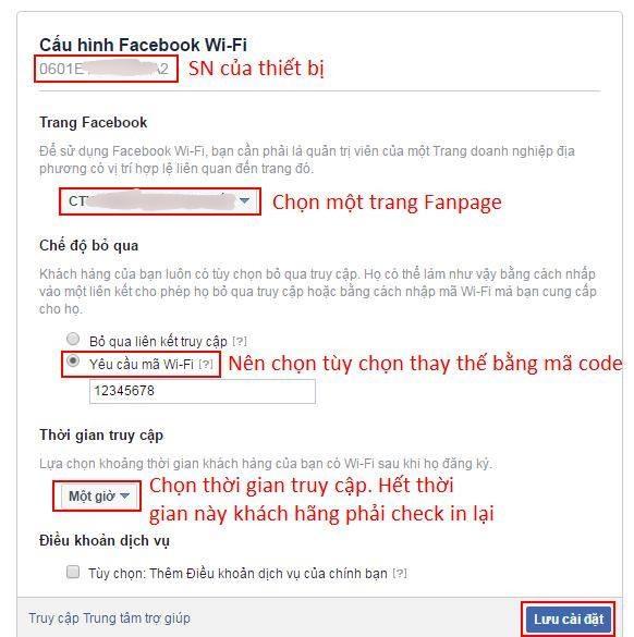 Hướng dẫn thiết lập Facebook wifi theo các bước - Nguồn ảnh: Internet