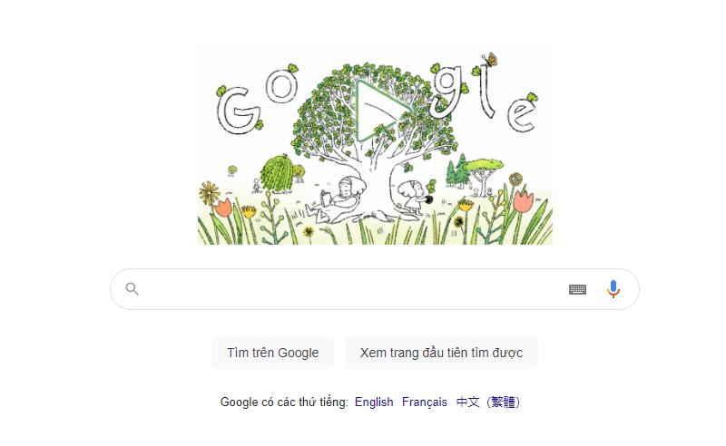 Google Doodle hôm nay kỷ niệm Ngày Trái đất 22.4