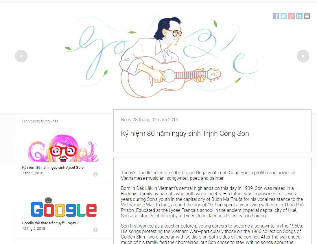 Google Doodles trinh cong son