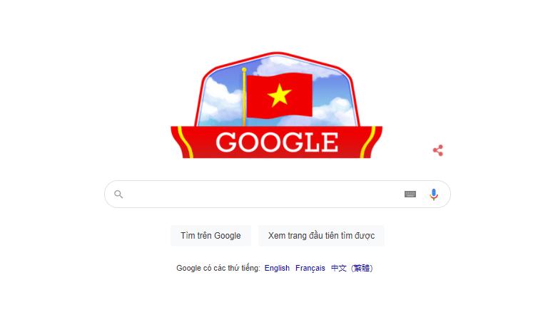 Google Doodles hôm nay (2/9/2021): Kỷ niệm Ngày Quốc khánh Việt Nam năm 2021