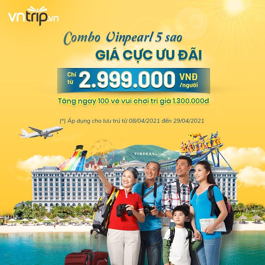 Combo vé máy bay khứ hồi và nghỉ dưỡng tại Vinpearl Phú Quốc của Vntrip. Hình: Sưu tầm