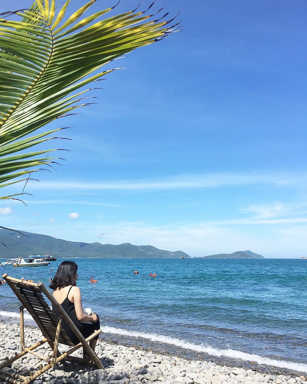 Vẻ đẹp yên bình của bãi Tranh. Hình: @minnguyet.dh