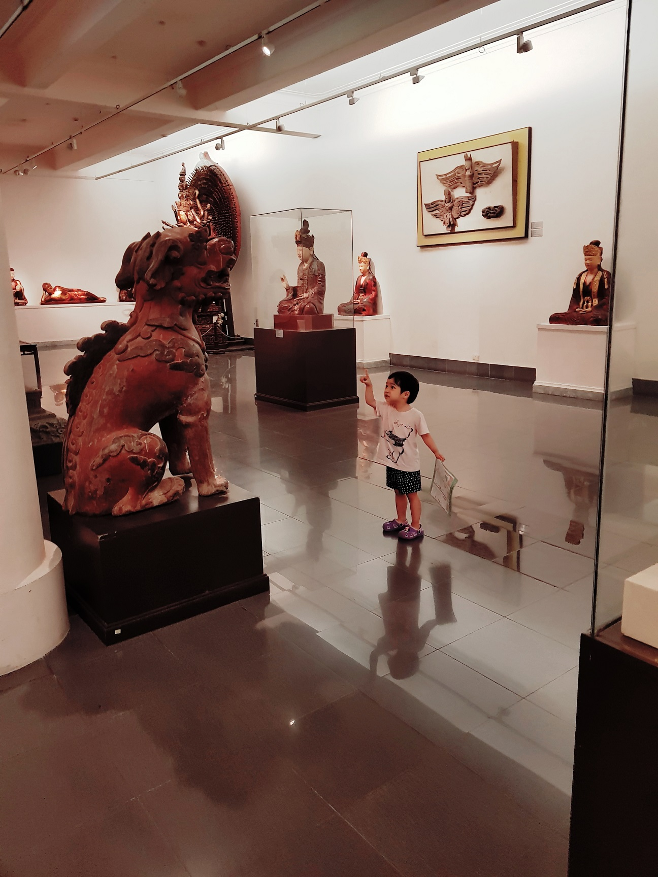 Nơi trưng bày các tác phẩm trong các giai đoạn lịch sử mỹ thuật. Hình: Sưu tầm