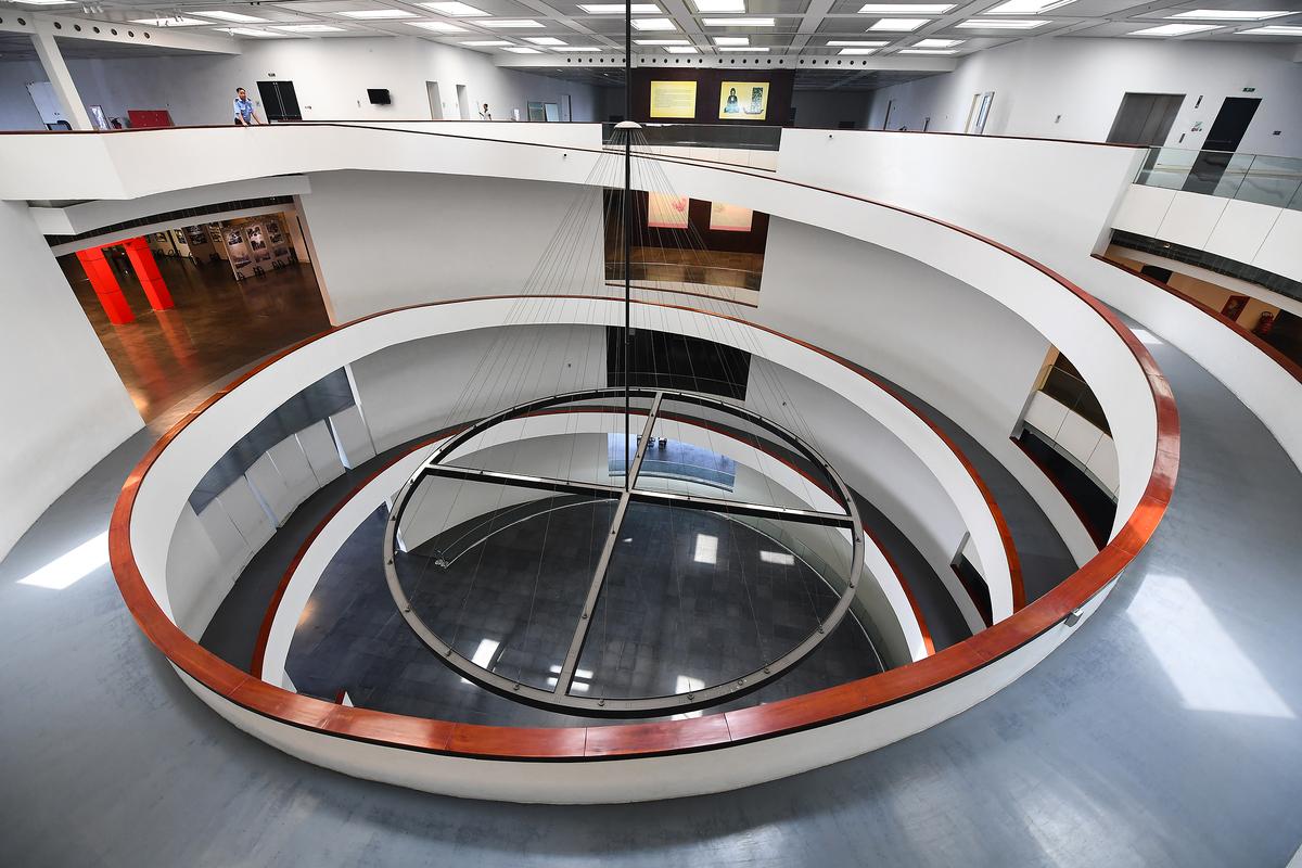 Kiến trúc bên trong bảo tàng Hà Nội. Hình: Sưu tầm