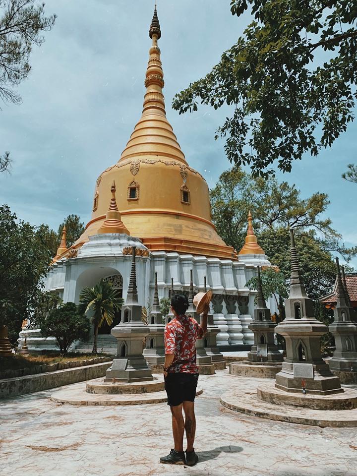Ngọn tháp nổi bật giữa chùa Thiền Lâm. Hình: Cường Quốc Phạm