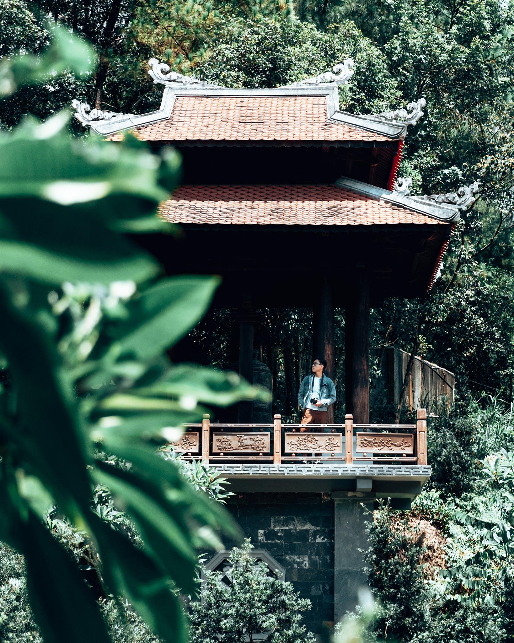 Không khí trong lành ở chùa Huyền Không Sơn Thượng. Hình: Nguyen Anh Tuan
