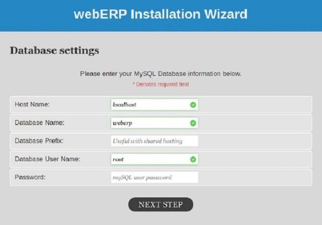Phần mềm WebERP sử dụng hệ thống mã nguồn mở
