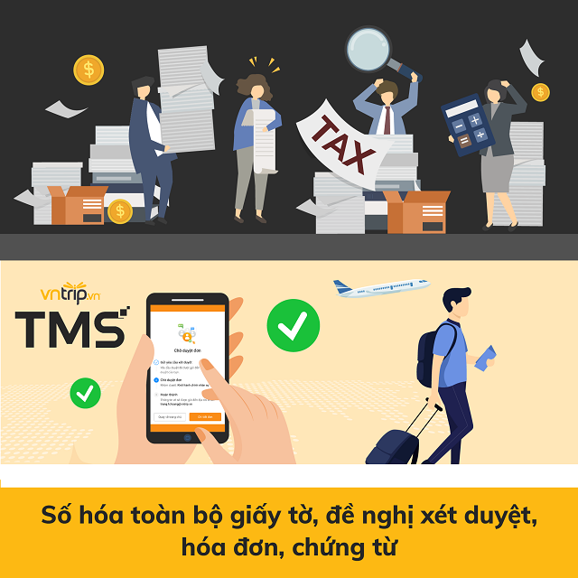 Phần mềm quản lý công tác Vntrip TMS