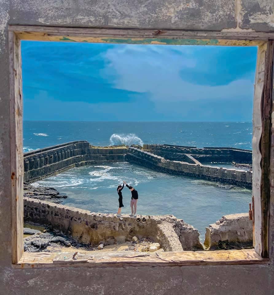 """Góc check-in """"thần thánh"""" ở đảo Phú Quý. Hình: Tiểu Trúc"""
