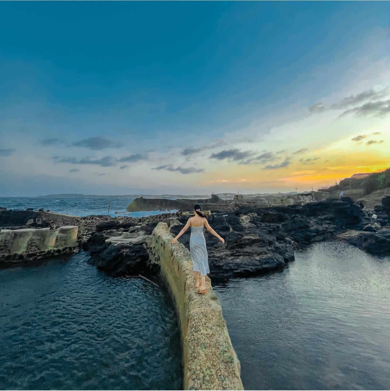 Vẻ đẹp hoang sơ ở đảo Phú Quý. Hình: Tiểu Trúc