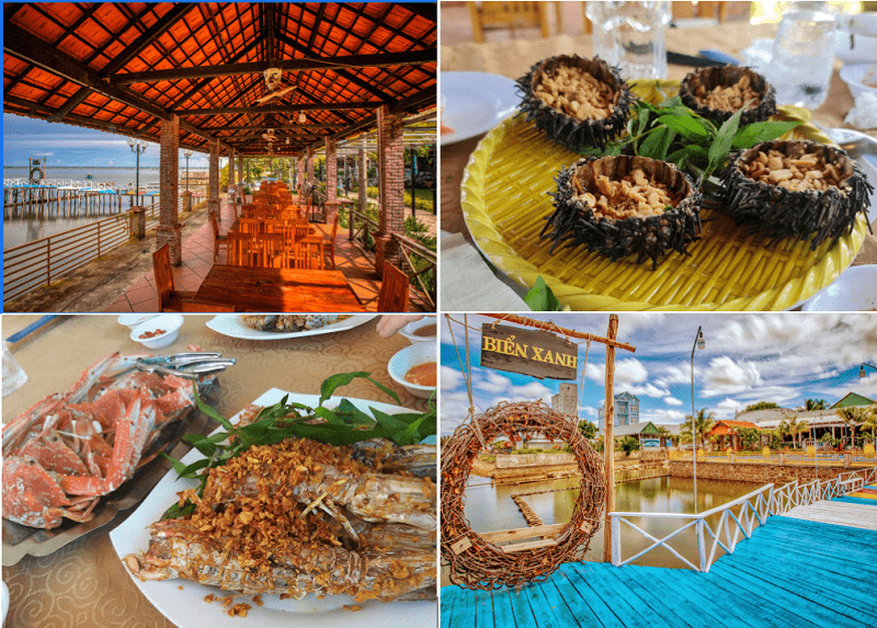 Thưởng thức món ngon hải sản tại nhà hàng Biển Xanh Phú Quốc - Nguồn ảnh: Internet