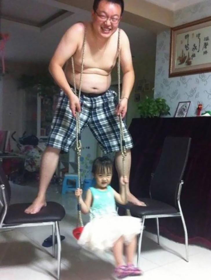 Chịu thua độ sáng tạo của ông bố này, tất cả đổi lấy nụ cười của con gái - Nguồn ảnh: Internet