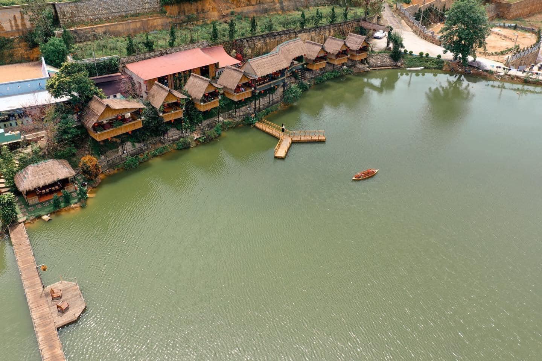 Toàn cảnh An Sơn Hồ nhìn từ trên cao. Hình: Sưu tầm