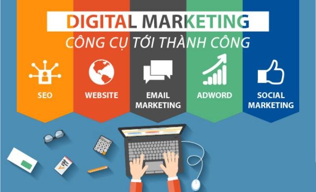 Các kênh truyền thông của digital marketing. Ảnh: Internet