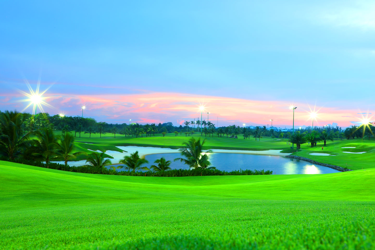Sân golf được bảo dưỡng vô cùng tốt. Hình: Sưu tầm