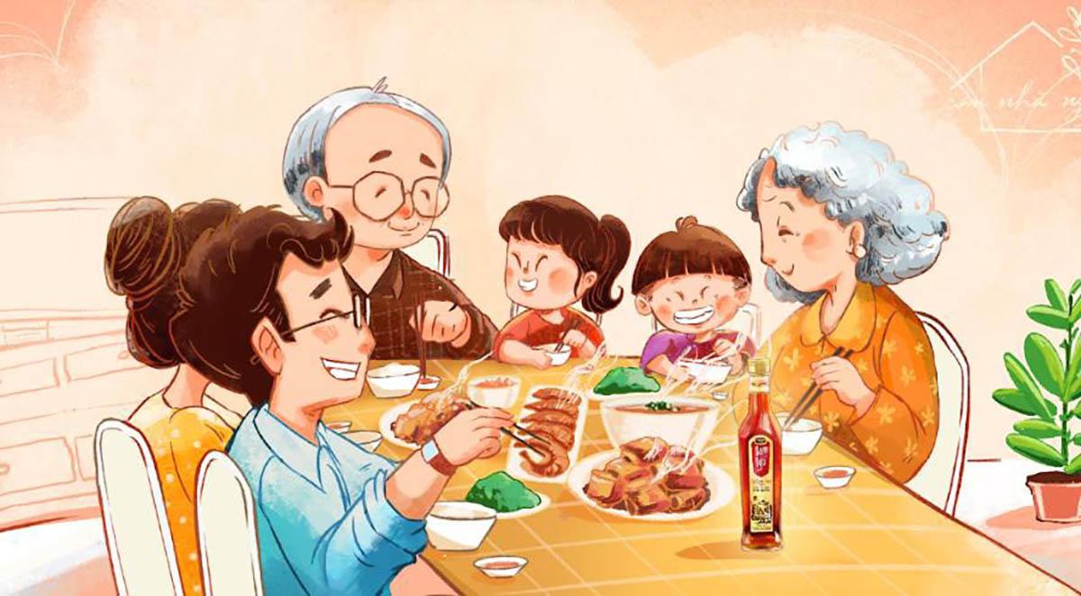 Đừng quên dành thời gian ăn tối cùng gia đình nhân ngày 28/6 - Nguồn ảnh: Internet
