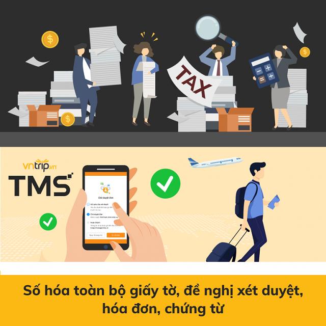 Vntrip TMS là phần mềm quản lý công tác chuyên nghiệp, giúp số hóa toàn bộ hóa đơn, chứng từ liên quan tới công tác phí