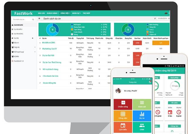 Phần mềm FastWork giúp nhà quản lý dễ dàng hơn trong việc lên kế hoạch, theo dõi và giám sát các công việc