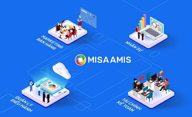 Phần mềm AMIS.VN được tích hợp nhiều chức năng chung của doanh nghiệp trên một hệ thống
