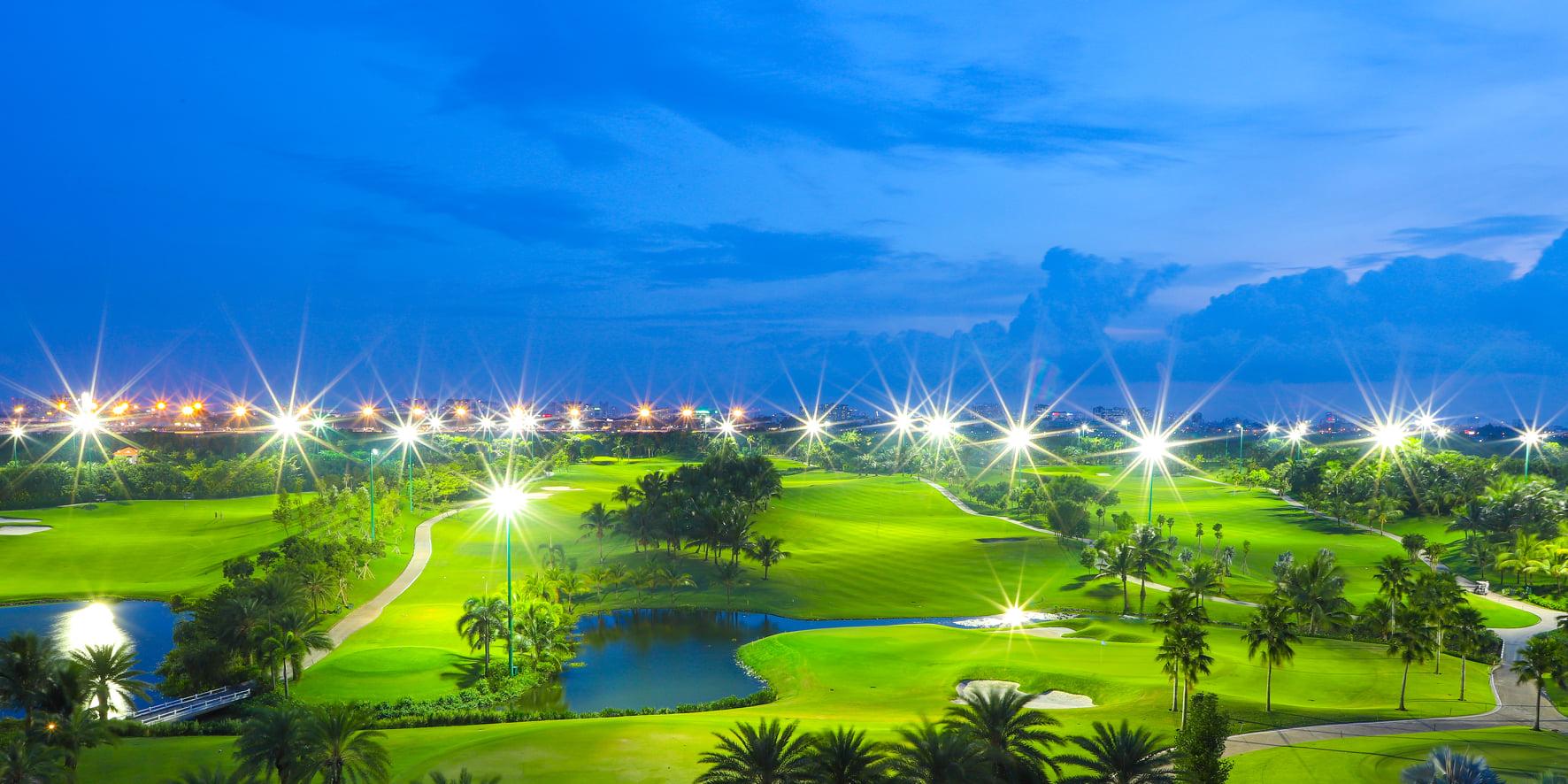 Sân golf Tân Sơn Nhất vào ban đêm. Hình: Sưu tầm