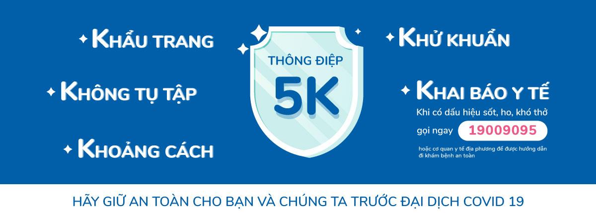Toàn dân được yêu cầu nghiêm túc thực hiện 5K để phòng chống dịch