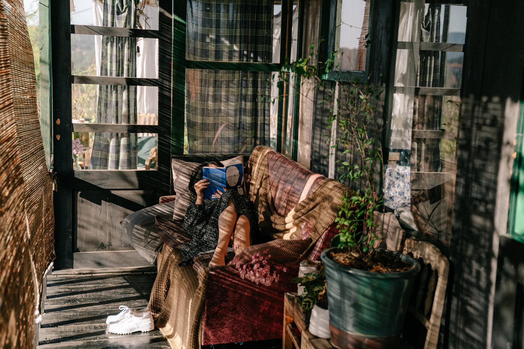 Thư thả ở homestay Đà Lạt. Hình: Tú Trần