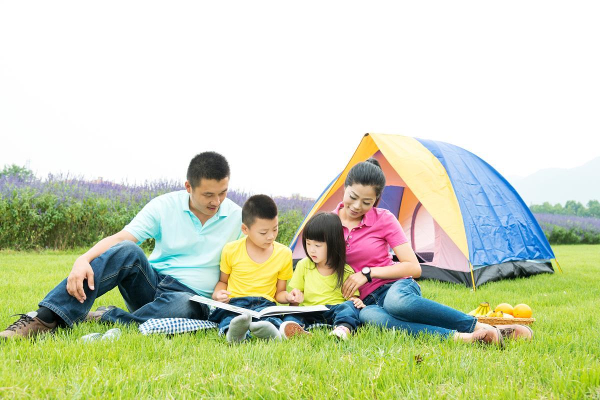 Cắm trại là dịp để cả gia đình được thả lỏng tinh thần và nuôi dưỡng tình cảm