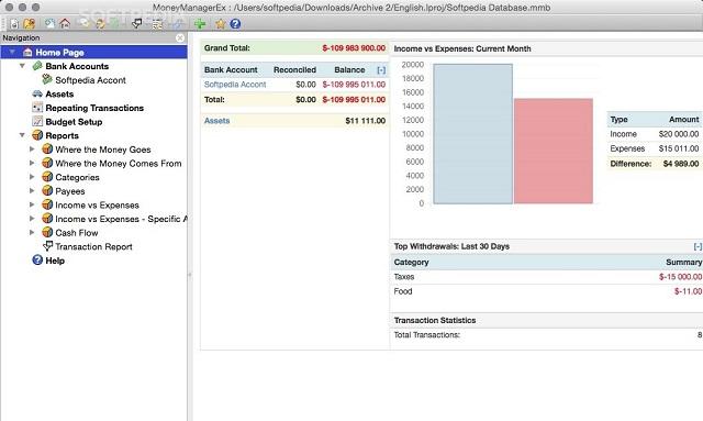 Money Manager Ex là phần mềm quản lý tài chính đa nền tảng