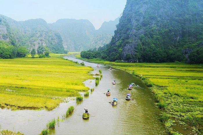 Sông Ngô Đồng là một chi lưu của sông Sào Khê. Ảnh: Dulichninhbinh