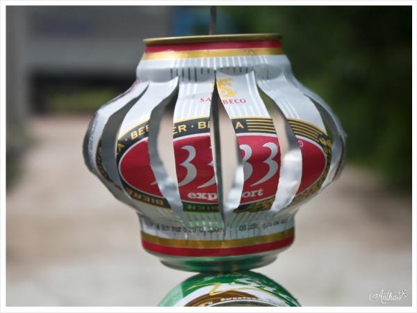 Cách làm lồng đèn bằng lon bia cho bé đón Trung Thu